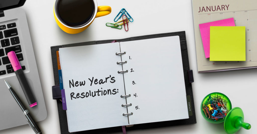 notebook with resolutions