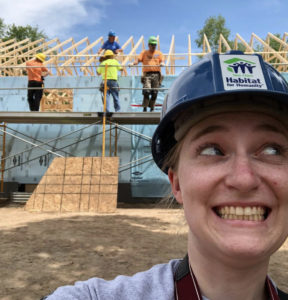 Christy on site with Habitat for Humanity