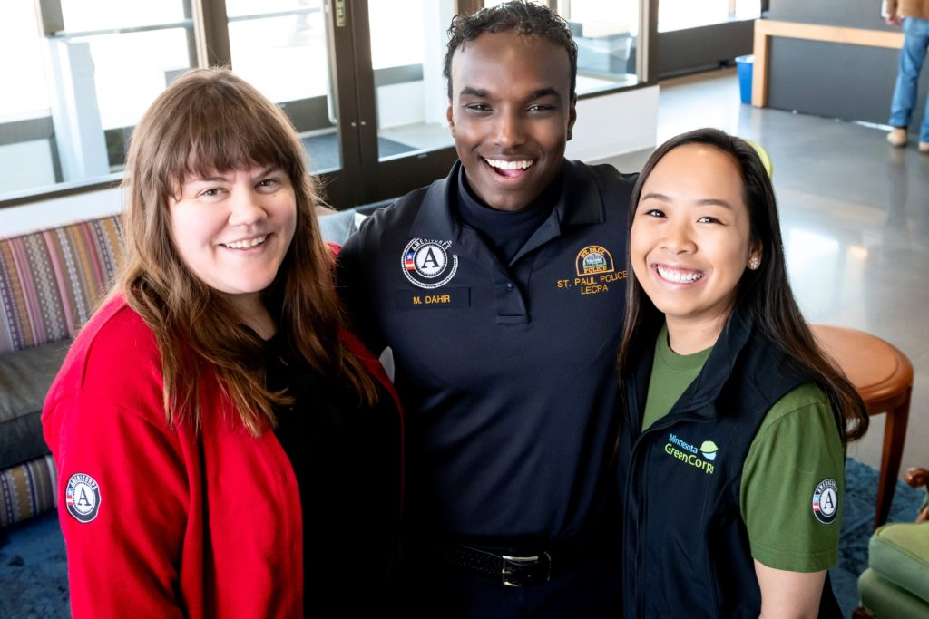 three americorps members