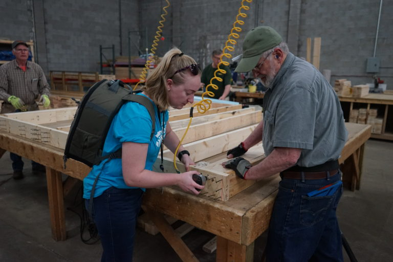 Christy at Habitat for Humanity